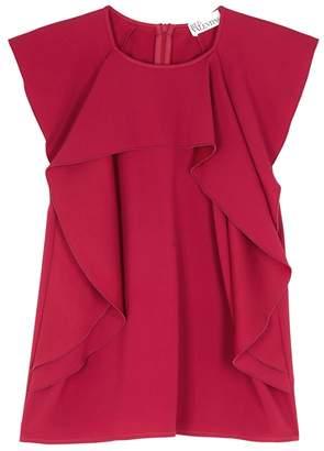 RED Valentino Fuchsia Ruffle-trimmed Top