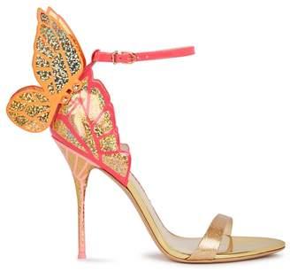 Sophia Webster Chiara Glittered Winged Leather Sandals