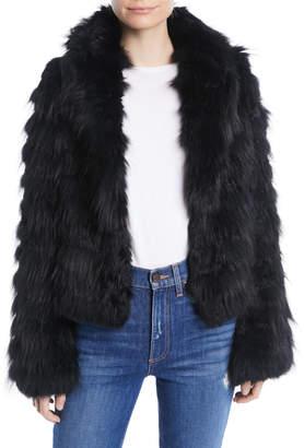 Alice + Olivia Nadia Hooded Fur Coat