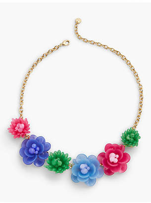 Talbots Mixed Media Flower Necklace
