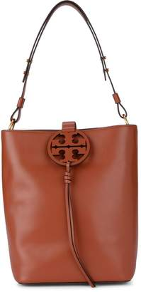 Tory Burch Model Miller Rust Soft Leather Bucket Bag.