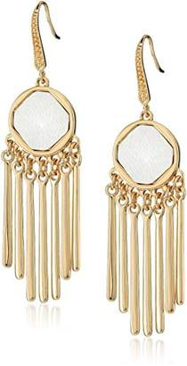 Laundry by Shelli Segal Leather Inlay Chandelier Drop Earrings