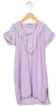 Calypso Embroidered Short Sleeve Top