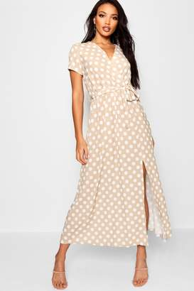 boohoo Polka Dot Maxi Dress