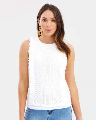 Dorothy Perkins Broiderie Lace Shell Top
