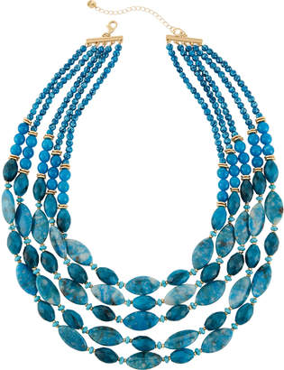 Lydell Nyc Multi-Row Beaded Necklace, Teal