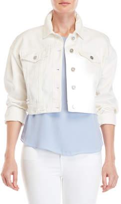 Bagatelle Distressed Cropped Denim Jacket
