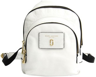 Marc Jacobs White Leather Backpacks