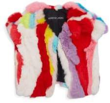 Adrienne Landau Toddler's, Little Girl's& Girl's Multicolor Rabbit Fur Vest
