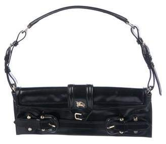 224ca064fe Burberry Patent Leather Buckle Clutch
