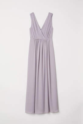 H&M Long V-neck Dress - Purple