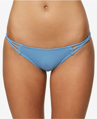 O'Neill Juniors' Salt Water Solid Strappy Cheeky Bikini Bottoms, Created for Macy's Style Women's Swimsuit