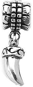 Prerogatives Sterling Tiger Claw Dangle Bead