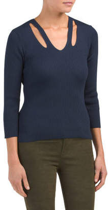 Cut Out V-neck Sweater