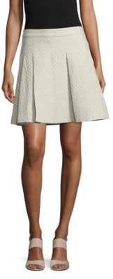 Derek Lam 10 Crosby Cotton Box-Pleat Skirt