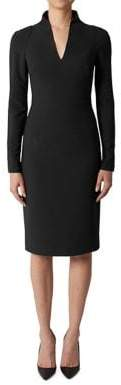 Black Halo Long-Sleeve Mindy Sheath Dress