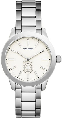 Tory Burch COLLINS WATCH, STAINLESS STEEL/IVORY, 38 MM