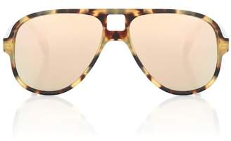 Acne Studios Hole Aviator mirrored sunglasses