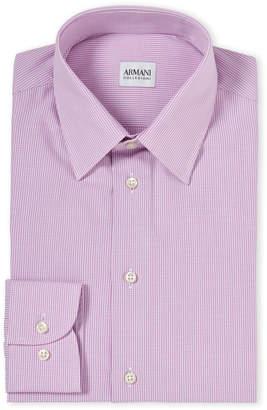 Armani Collezioni Mini Gingham Modern Fit Dress Shirt