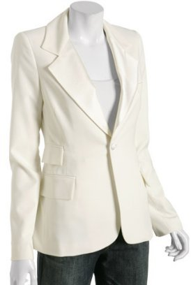 Alvin Valley ivory stretch poly tuxedo blazer