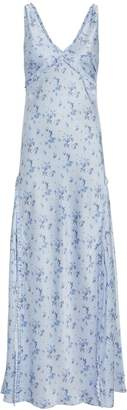 LoveShackFancy Kendall Silk Floral Dress