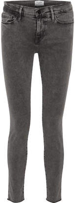 Frame Le Skinny De Jeanne Mid-rise Jeans - Gray