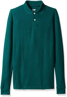 Lee Uniforms Men's Modern Fit Long-Sleeve Polo