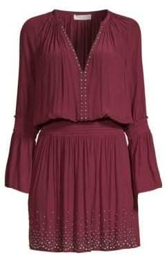 Ramy Brook Izzie Studded Blouseon Dress