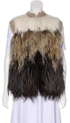 Fendi Fox Fur Sweater Vest