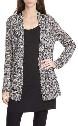 Eileen Fisher Simple Melange Organic Cotton Cardigan