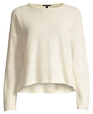 Eileen Fisher Women's Reclaimed Hemp& Organic Cotton Blend Pullover