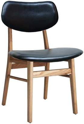 Ash Oslo Home Black & Ruby Leather Dining Chair