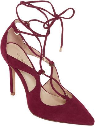 LIZ CLAIBORNE Liz Claiborne Camila Womens Leather Pumps $160 thestylecure.com