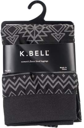 K. Bell Aztec Print Fleece Lined Leggings - Black - Medium/Large