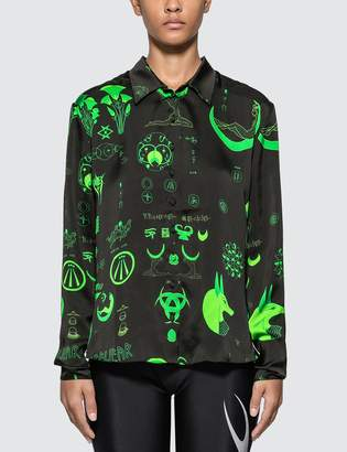 Marine Serre Graphic Print Shirt