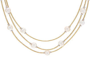 Honora Cultured Pearl Multi-Strand Faux LeatherNecklace