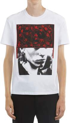 Raf Simons Slim Fit Pierced Mouth Print T-Shirt