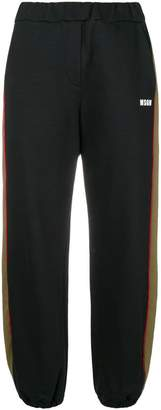 MSGM side stripe joggers