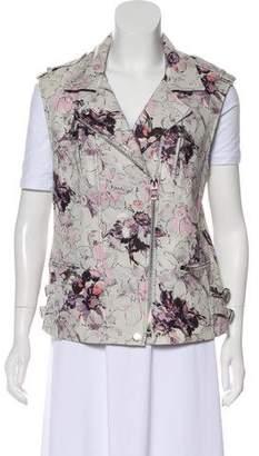 Rebecca Taylor Printed Leather Vest