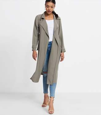 Dynamite Long Lightweight Trench - FINAL SALE VETIVER