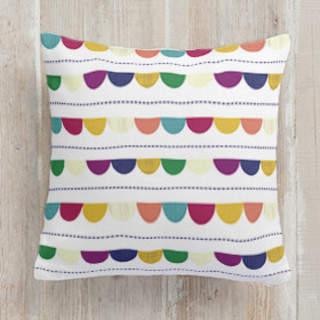 Happy Half Dot Self-Launch Square Pillows