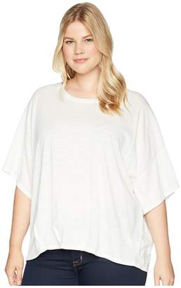 Bobeau B Collection by Plus Size Calla Knit Dolman Top Women's Short Sleeve Pullover