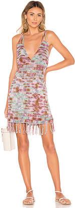 Indah Lorne Batik Crochet Mini Dress