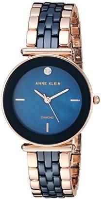 Anne Klein Women's Quartz Metal and Ceramic Dress Watch