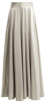 Diane von Furstenberg Metallic Long Skirt - Womens - Silver
