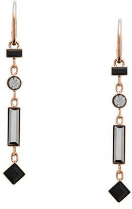 Fossil Linear Rose Gold-Tone Stainless Steel Drop Earrings jewelry ROSE GOLD