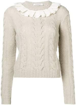 Philosophy di Lorenzo Serafini lace collar sweater