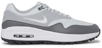 Nike Air Max 1g Coated-mesh Golf Shoes - Gray