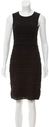 Burberry Silk-Blend Ruffle Midi Dress