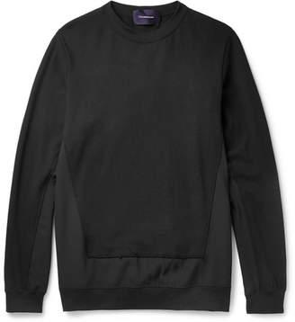 Undercover Panelled Cotton-Jersey Sweatshirt